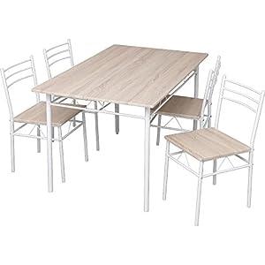 ダイニングテーブルセット 5点セット(チェア4脚・テーブル幅120) 幅120×奥行75×高さ74 ナチュラル ASP-1275