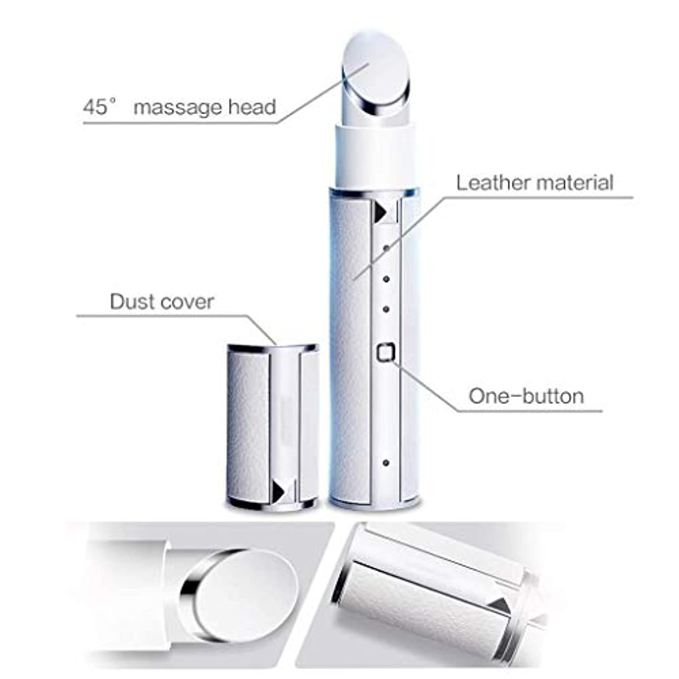 コンペ事前に原理マッサージャー、42℃恒温電気アイマッサージケアデバイス、顔の健康と美容ツール、顔に適して、額、首のリフト、しっかりした肌、しわを減らす、持ち運びが簡単