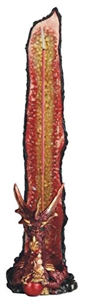 シットコムセンブランス欲望FearsomeレッドドラゴンUpright Incense Burner with Geode背景4