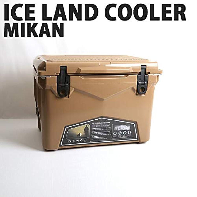 人里離れた合わせて捕虜ICELANDCOOLER × MIKAN ミカン MIKAN × ICELANDCOOLER MilitaryCollection別注カラーモデル 35QT コヨーテ