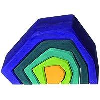 Grimm 's Large Stone Cavesネスト木製彫刻ブロックStacker :自然の、