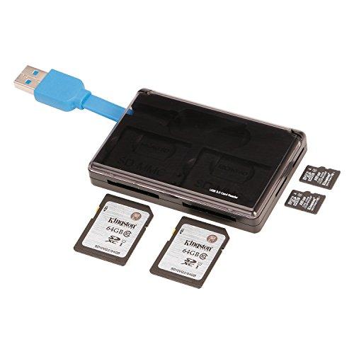 GIKERSY 収納可能式多機能 カードリーダ 高速カード リーダ マルチカードスロット融合デザイン カードリーダ USB 3.0ポートSD/TFメモリカードに対応 ギカシー
