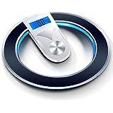 体重計電子体重計家庭用小型体重計成人女性正確な電子体重計体重測定充電 QIQIDEDIAN (色 : ブラック)