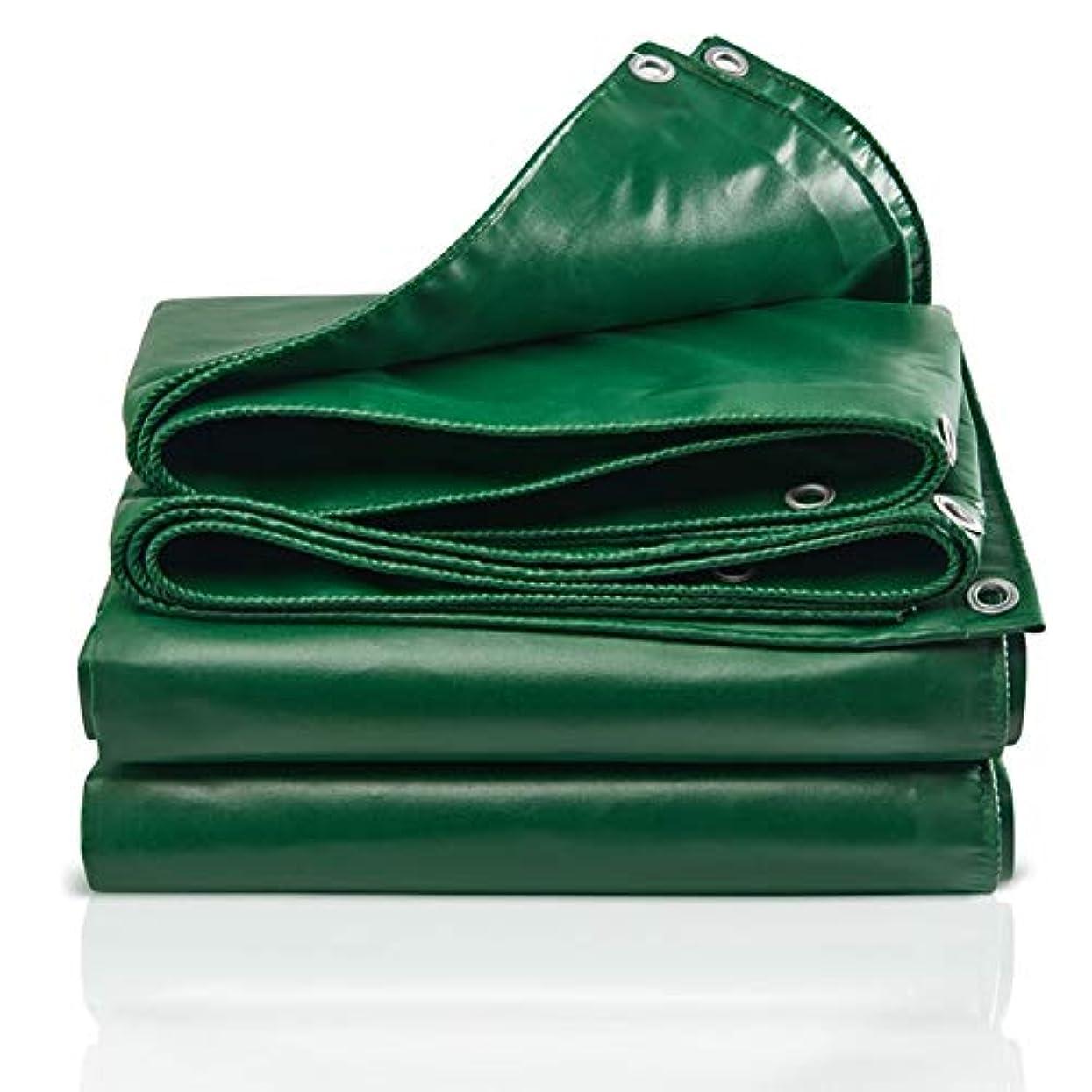 測る口メニューLIXIONG オーニング屋外の PVC 防雨布 シェード 絶縁 折りやすい 防水シート、 12サイズ (色 : 緑, サイズ さいず : 6.8×4.8m)