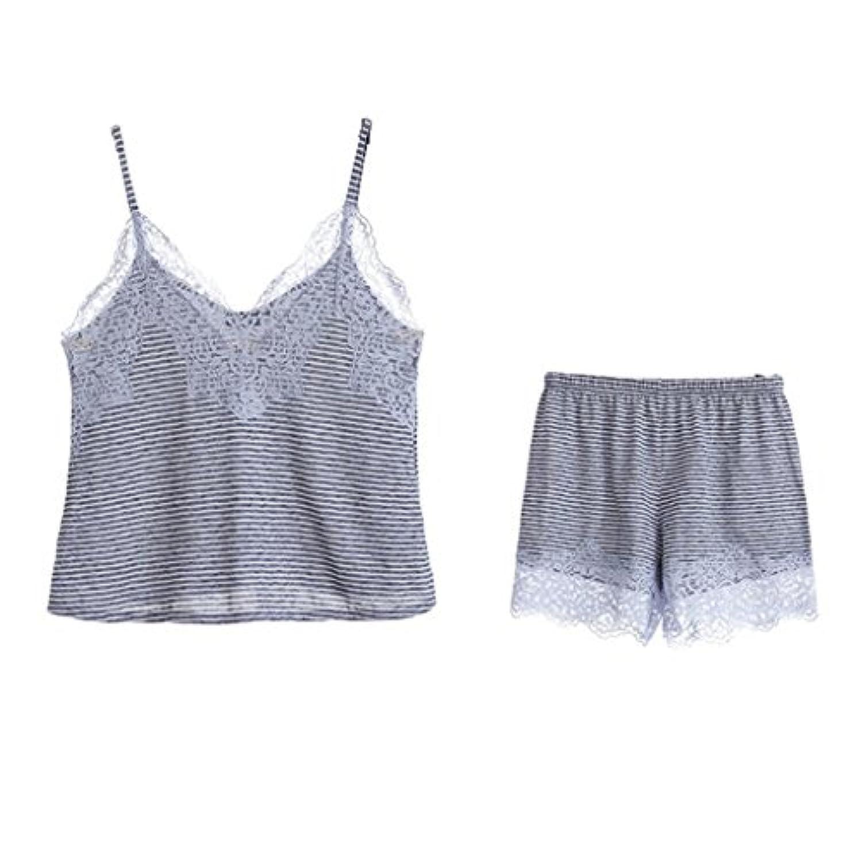 GAODUZI 夏のセクシーなストラップVネックパジャマホームサービススーツ下着(スリング+ショートパンツ)