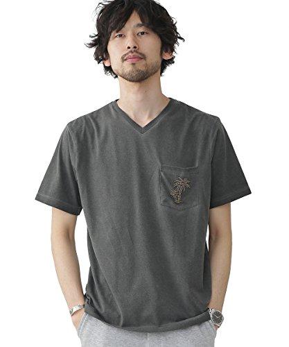 ナノ・ユニバース(nano・universe) メタルビーズTシャツ M ブラック nano・universe