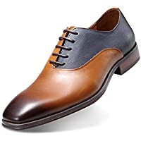 Maestrami Men's Hand Brushed Genuine Leather Shoe Retro British Style for Any Dress, Formal, or Party Occasions