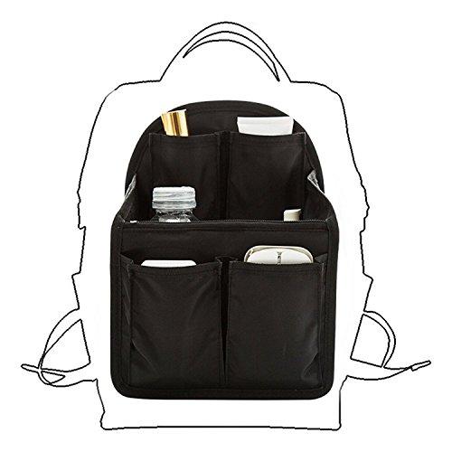 LORCOO バッグインバッグ リュック 15ポケット A4 b4 c4 収納整理 大容量 軽量 ナイロン インナーバッグ インナーポケット 収納力抜群 仕分け デイパック・ザックに便利 メンズ レディース bag in bag (アーチ型S)