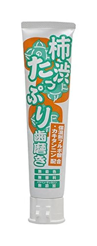 困惑パドル確かに柿渋たっぷり歯磨き 135g