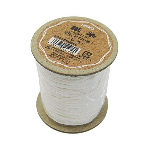 ヘイコー リボン 紙糸 白 1mmx30m巻 001500669