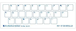 Psショートカットステッカー for Mac Ver.2.0 16mm(MacBook/MBP2016~用)