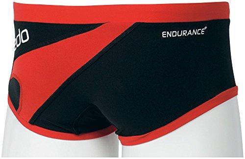 Speedo(スピード)メンズ競泳水着練習用トレインボックスSD86X55ブラック×レッドL
