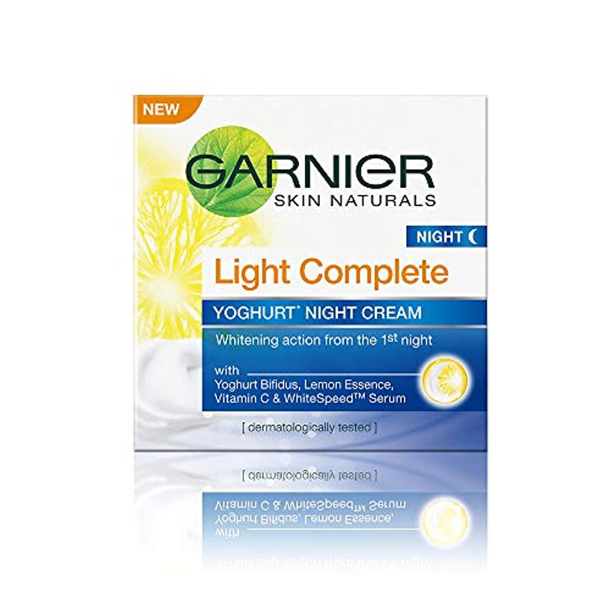 スラッシュ圧倒する原子炉Garnier Skin Naturals Light Complete Night Cream, 40g