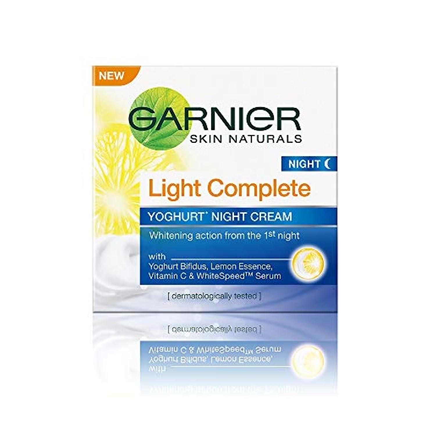 メロディー過言自然Garnier Skin Naturals Light Complete Night Cream, 40g