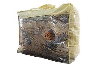 羽毛布団 国産 シングル ブルー 柄おまかせ ニューゴールドラベル90% 1.2kg 綿15% 150×210 パワーアップ加工 羽毛掛け布団 布団 ふとん CH914SB