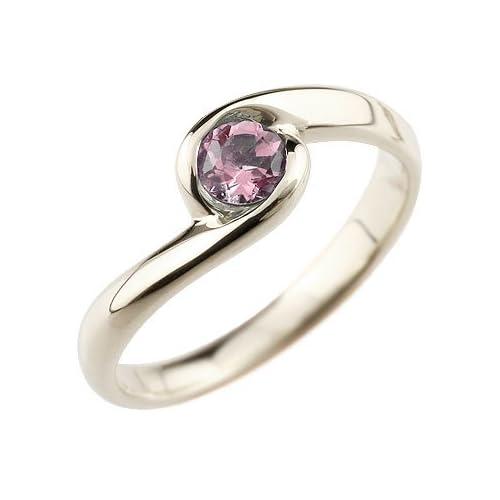 [アトラス] Atrus 指輪 大粒天然石 ピンクトルマリン ピンキーリング シルバー925 SV925 指輪 15号 美しい煌めき 大粒天然石のスパイラルリング 10月誕生石