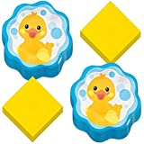 Rubber Duck Party Supplies - Bubble Bath Paper Dinner Plates and Luncheon Napkins (Serves 16)