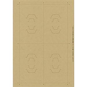 タカ印 台紙 44-7682 オリジナルワークス OA対応 ヘアアクセサリー用 60枚 クラフト