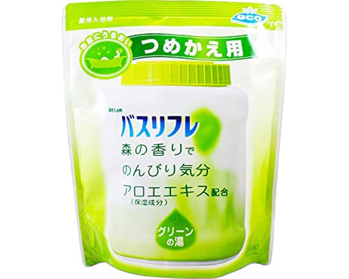 推進力冷酷な湿度薬用入浴剤 バスリフレ グリーンの湯 つめかえ用 540g 森の香り (ライオンケミカル)