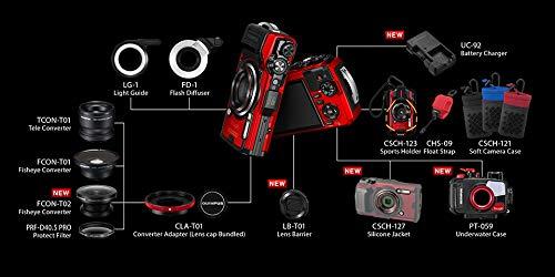 OLYMPUS デジタルカメラ Tough TG-6 ブラック 1200万画素CMOS F2.0 15m 防水 100kgf耐荷重 GPS 内蔵Wi-Fi TG-6BLK