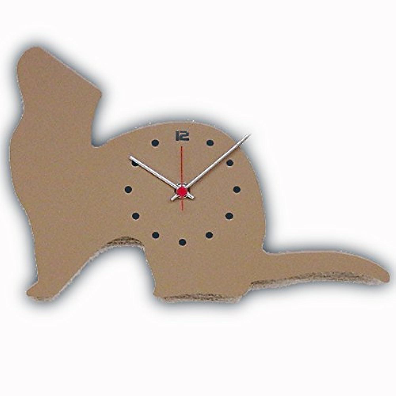 日本製 さんてる フェレット 掛け時計 F001MC