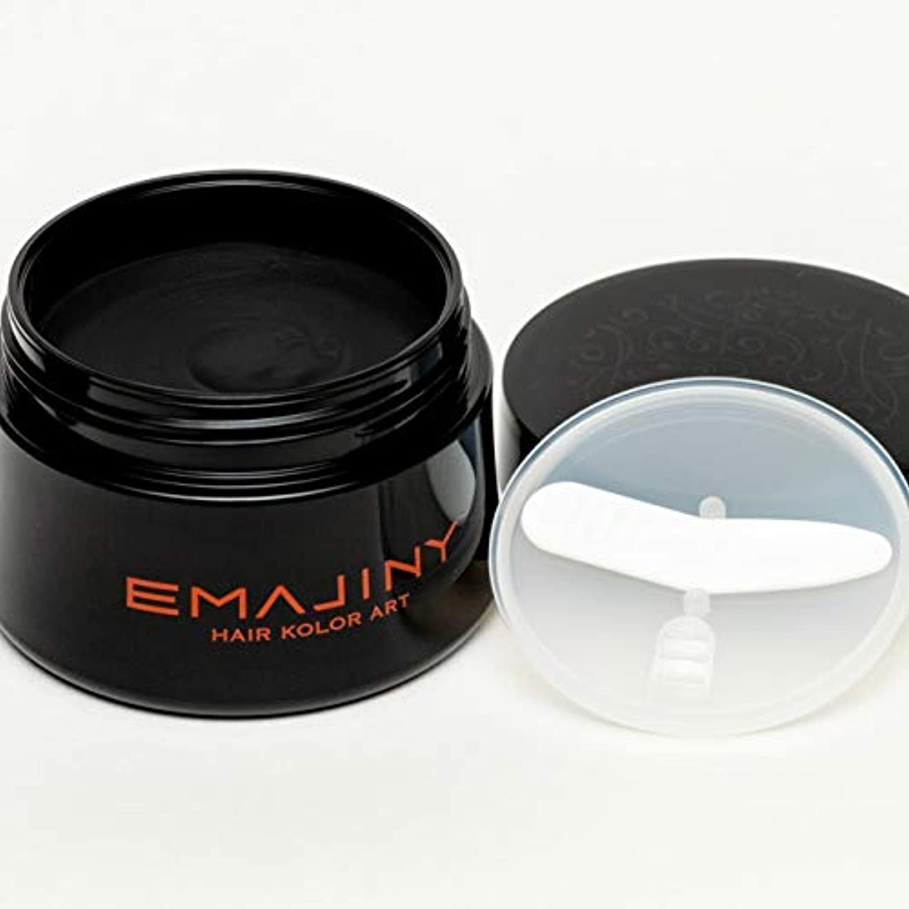 まどろみのある効率的サージEMAJINY Formal Black F25(ブラックカラーワックス)黒【日本製】大容量50g約一ヶ月分(一日1.5g使用の場合)【無香料】