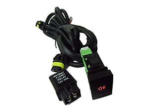 スズキ用 LEDスイッチ付! H8/H11/H16 後付フォグランプ用 リレー ハーネス 配線 社外フォグに!後付スイッチ