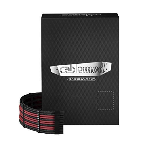 CableMod PRO ModMesh RT-Series ケーブルキット - BLACK/BLOOD RED