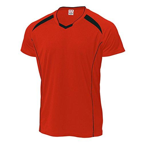 ウンドウ wundou ウンドウ P-1610バレーボールシャツ P-1610 92レッド×ブラック 130