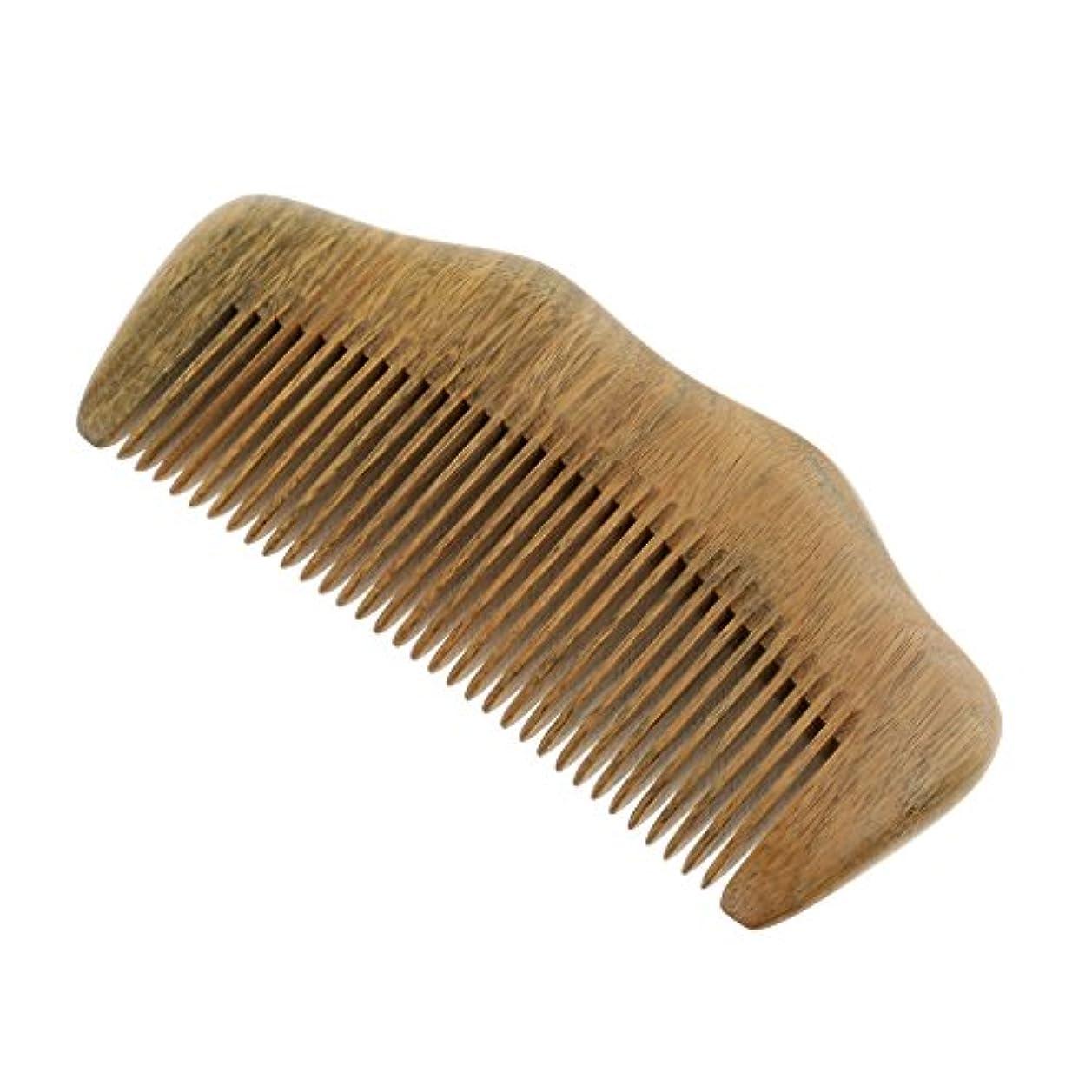 従来の凍った日常的にウッドヘアコーム 自然な木 櫛 ヘアケア マッサージ 細かい歯 静電気防止 滑らか