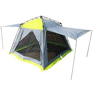 DOPPELGANGER OUTDOOR 300×300cm ワンタッチスクリーンタープ TT5-205 設営簡単 テントと連結可能
