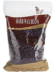 ハードワックスビーンズ脱毛ワックスビーンズ痛みのない優しい脱毛用アームボディビキニ肌の美しさ1000グラム(チョコレート)