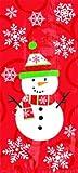 【クリスマス雑貨】スモールセロバッグ スノーマン・20枚(1パック)