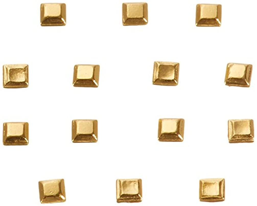 航海スリーブピークリトルプリティー ネイルアートパーツ スタッズスクエア ゴールド 200個