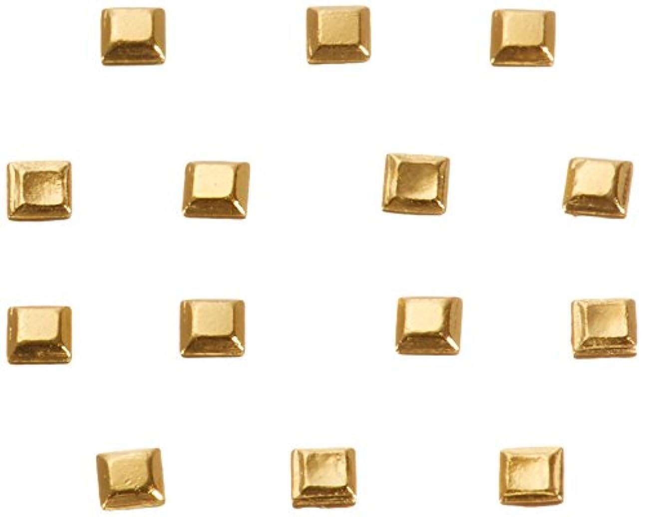 今日一定感嘆符リトルプリティー ネイルアートパーツ スタッズスクエア ゴールド 200個