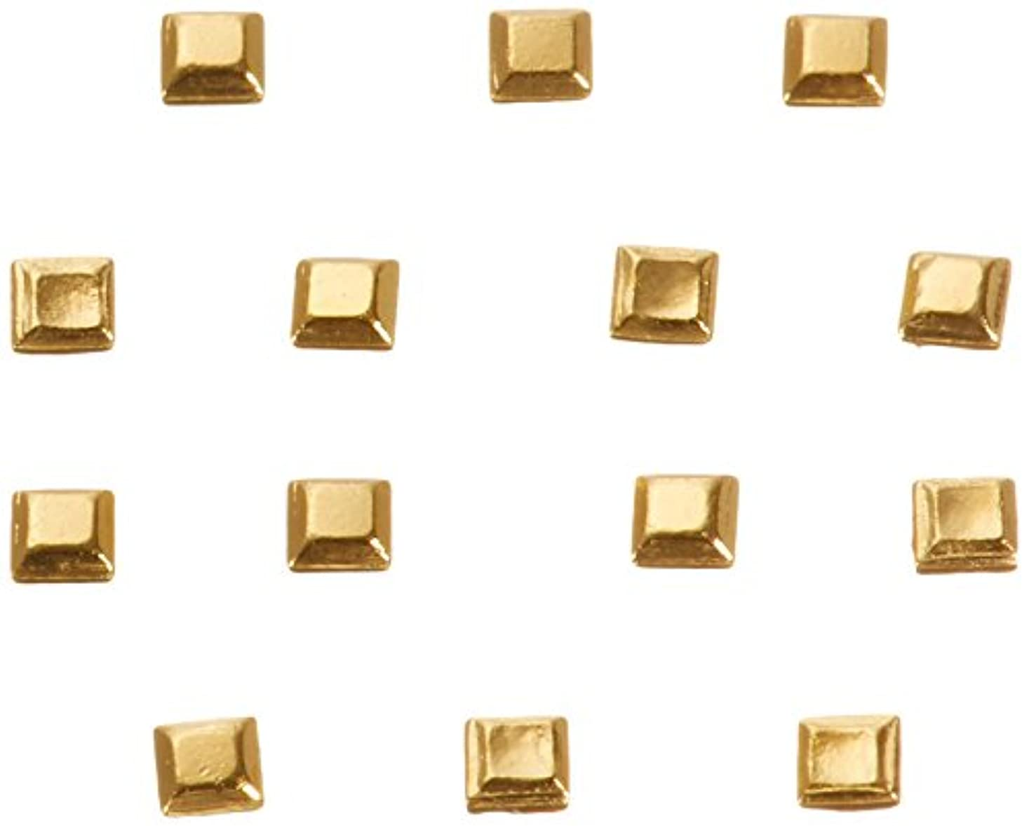 文明化する警察スナッチリトルプリティー ネイルアートパーツ スタッズスクエア ゴールド 200個