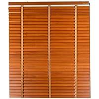 WENZHE 竹屏幕 竹スクリーン ウッドブラインド 木製 防水 陰影 世帯 スタディルーム ペイント クラフト、 木材の色、 サイズ カスタマイズ (色 : B-35mm, サイズ さいず : 140x160cm)