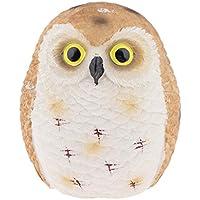 KESOTO 絶妙な フクロウの人形 イキイキ 樹脂製 ガーデン デコレーション オーナメント 全3サイズ - ブラウンフクロウ8cm