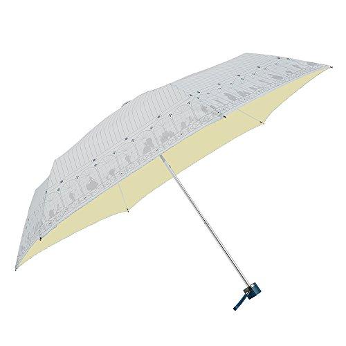 ディズニー 折りたたみ傘 手開き 日傘/晴雨兼用傘 キャラクター パラソル 美女と野獣/お城の中2 6本骨 50cm UVカット 99%以上 56066