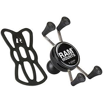 RAM MOUNTS(ラムマウント) マウント部 Xグリップ スマートフォン用 テザー付き ブラック RAM-HOL-UN7BU