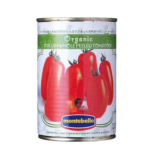 【ケース販売】モンテベッロ(旧スピガドーロ) 有機ホールトマト400g缶×24個入 トマト缶 オーガニック モンテ物産(株)