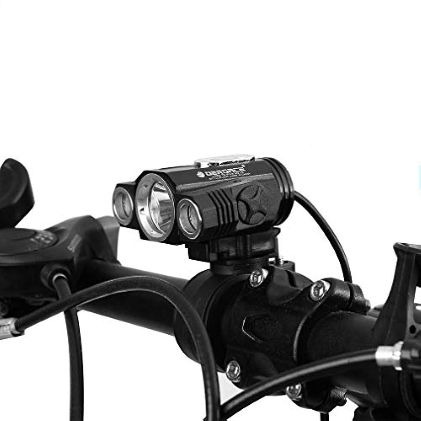不機嫌そうなわずらわしい指定する3T6 LEDヘッドライト 自転車ライト 超高輝度 超軽量 ストレッチズーム 4モード対応 USB充電式 着脱簡単 自転車フロントライト&バックライト ランプブラケット付き