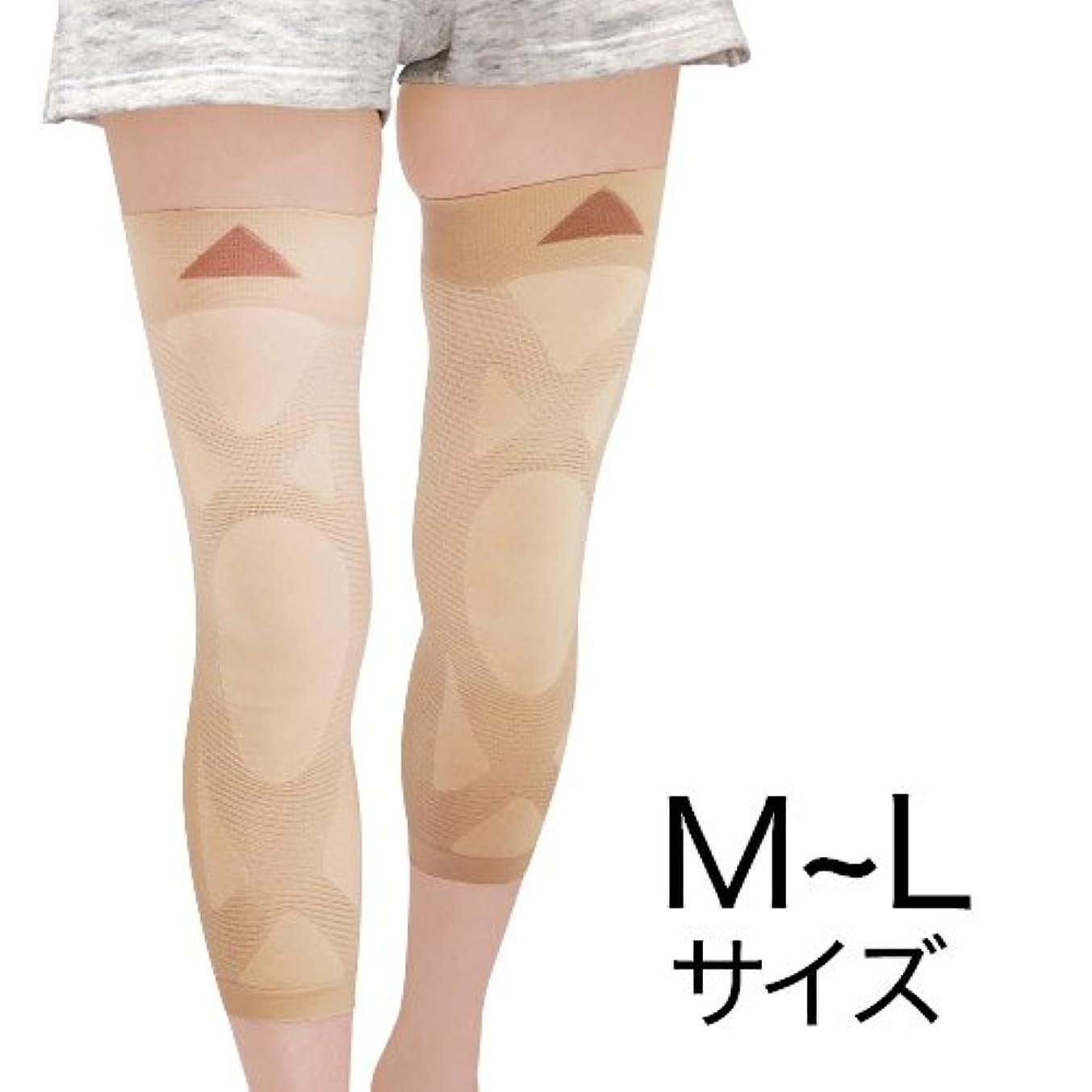 安息ロゴ推進力ナチュラルガーデン 膝楽サポーター M~L(左右共通2枚組)