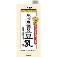 【常温】【6本】九州産ふくゆたか大豆成分無調整豆乳 1L