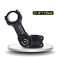 OUYAWEI 調整可能な自転車ステムライザー25.4ミリメートル/31.8ミリメートルロードマウンテンバイクステムアルミ合金自転車部品サイクリングアクセサリーMTBステム 調整可能なハンドル31.8 * 110mm