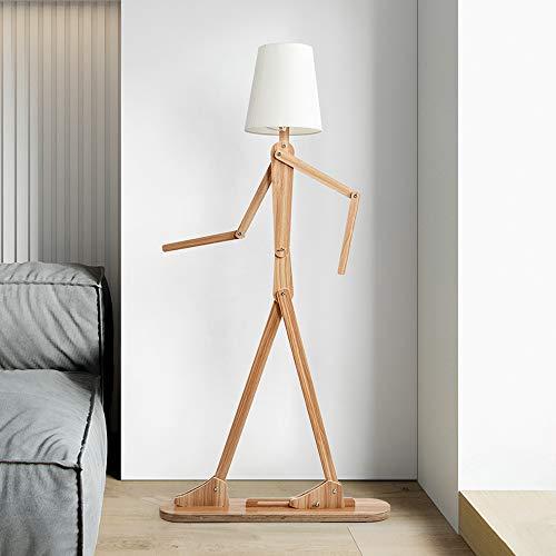 SUSSINGTON フロアランプ 北欧 E26 フロアスタンド 人 木製 フロアライト創意 スイングアーム 調節可能 160cm 高いランプ 居間 寝室 家庭用 照明 装飾用