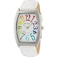 [フランク三浦]FRANKMIURA 腕時計 零号機 グレコローマンスタイル400戦無敗 記念モデル 革ベルト カラフル ホワイト FM00K-CRW