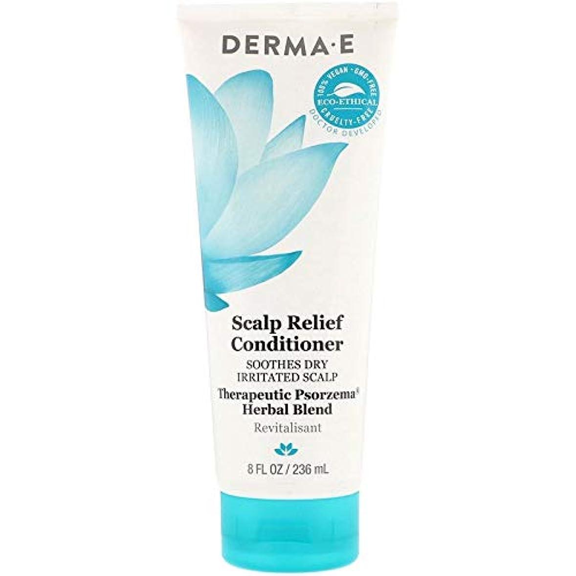 グリット発表する自治Derma E, Scalp Relief Conditioner, 8 fl oz (236 ml) X 3 パック並行輸入品
