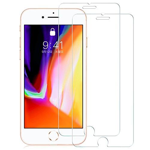 2枚セットNimaso iPhone8 / iPhone7 / iPhone6s / iPhone6 用 強化ガラス液晶保護フィルム 日本製素材旭硝子製3D Touch対応/業界最高硬度9H/透過率99.9% ( iPhone 8 / 7 / 6s / 6 , 2枚セット )