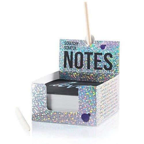 スクラッチ式メモ用紙キラキラ色:表面黒色・削ると銀色、正方形厚紙150枚入、クラフト・景品・オ フィスの飾りにも (Purple Ladybug Novelty)